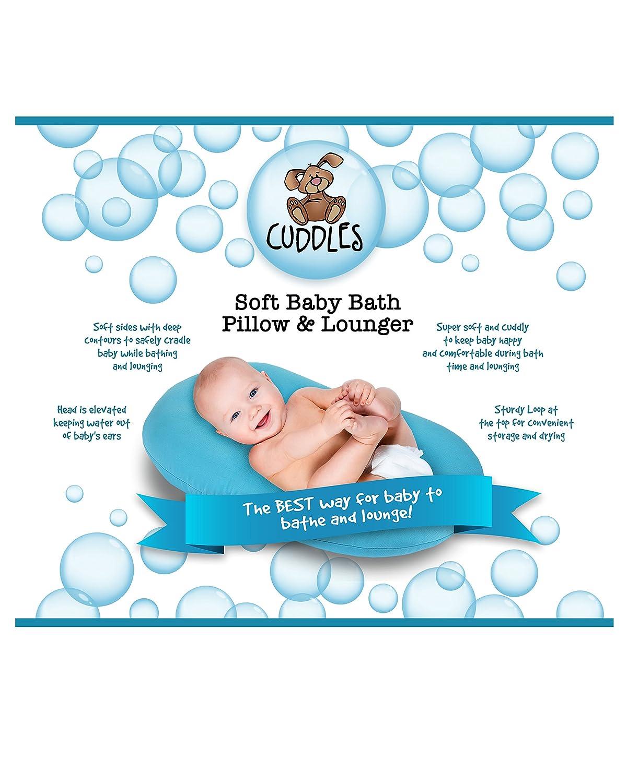 Amazon.com : Cuddles Soft Baby Bath Pillow & Lounger (Gray) : Baby