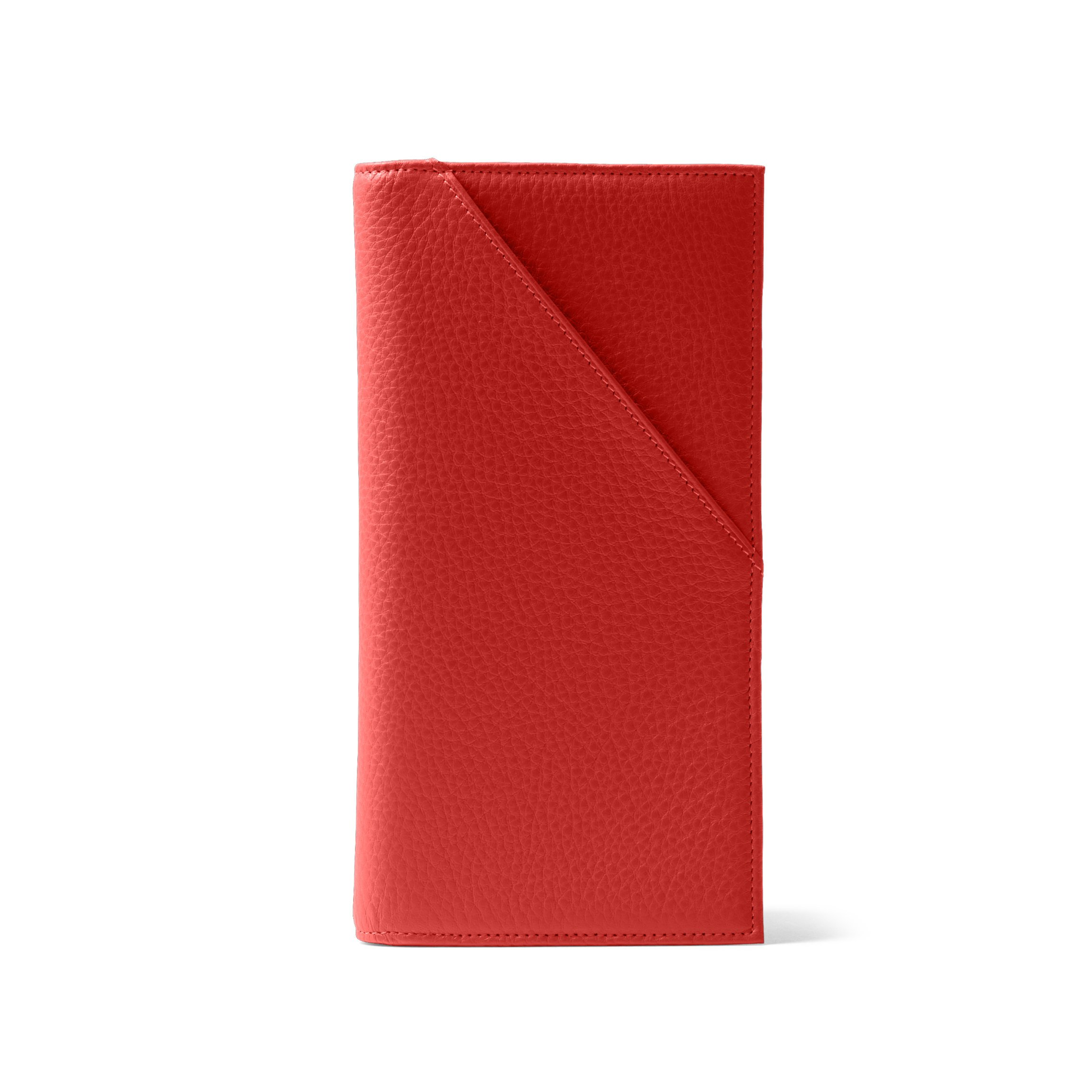 Travel Document Holder - Full Grain Leather Leather - Scarlet (red)