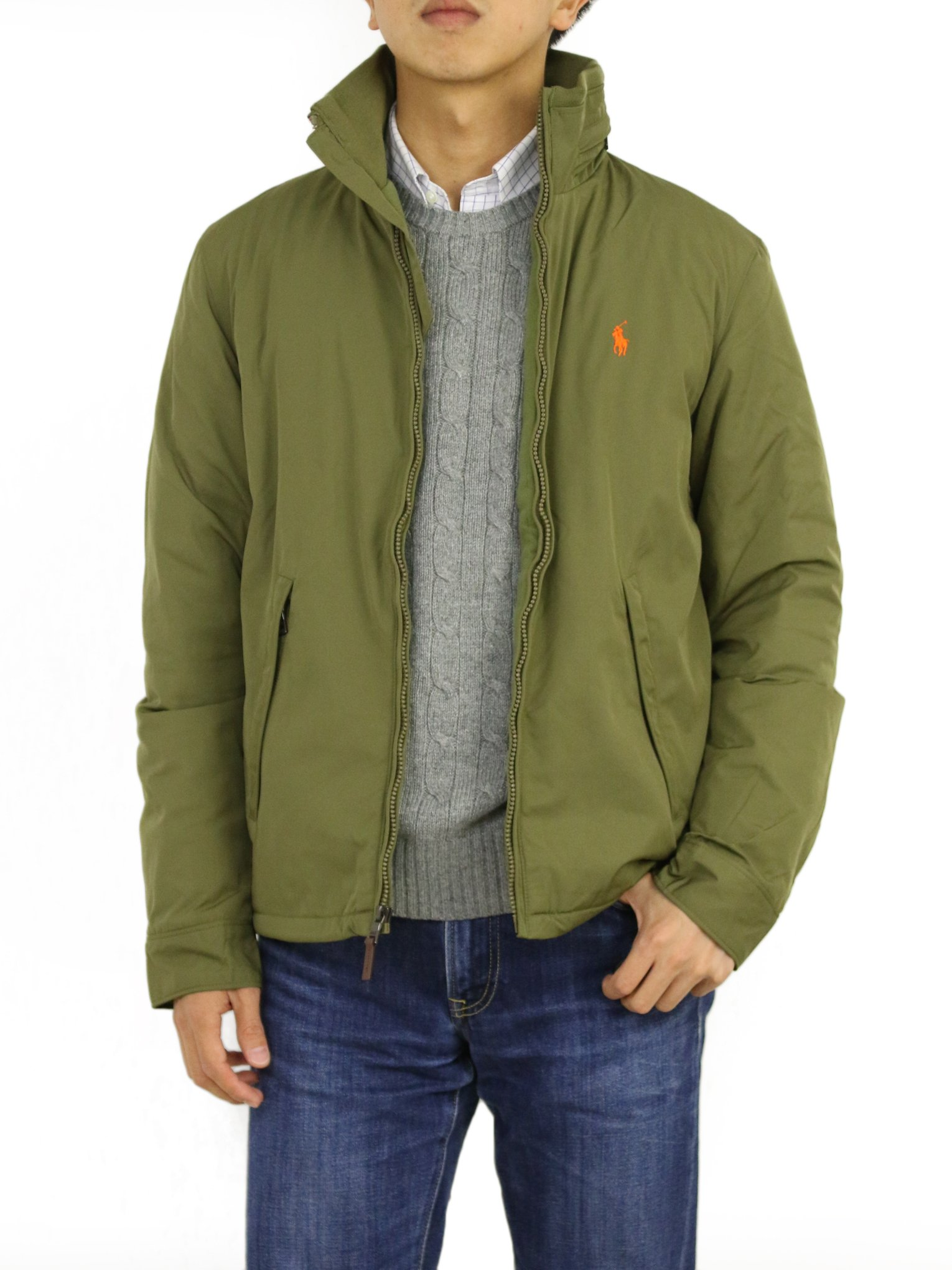 Ralph Lauren Jacket Perry Olivenorg Polo L iXkZPu