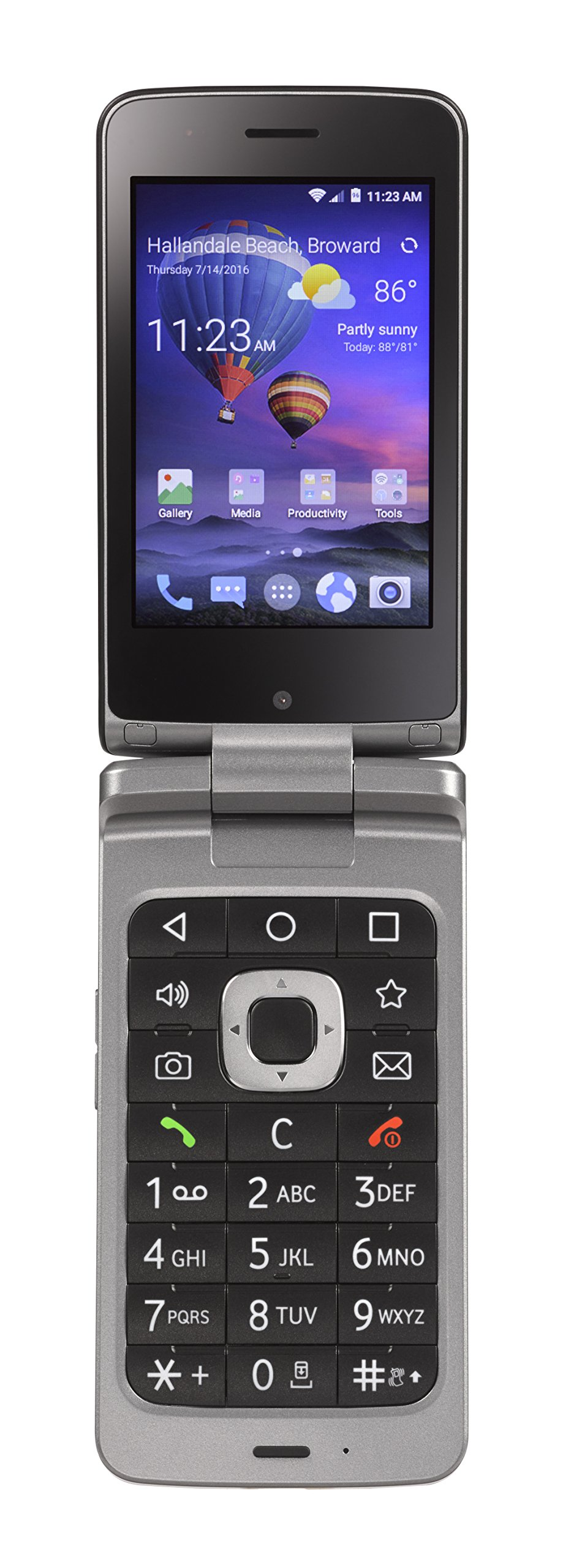 TracFone ZTE Android Flip 4G LTE Prepaid Phone
