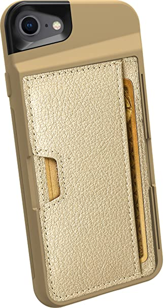 separation shoes 8b171 ddf39 Silk iPhone 7/8 Wallet Case - Q Card CASE [Slim Protective Kickstand CM4  Grip Cover] - Wallet Slayer Vol. 2 - Champagne Gold