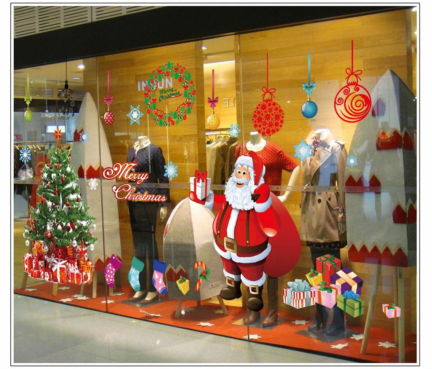 Navidad Decoracion Vinilo pegatina pared Árbol Papá Noel