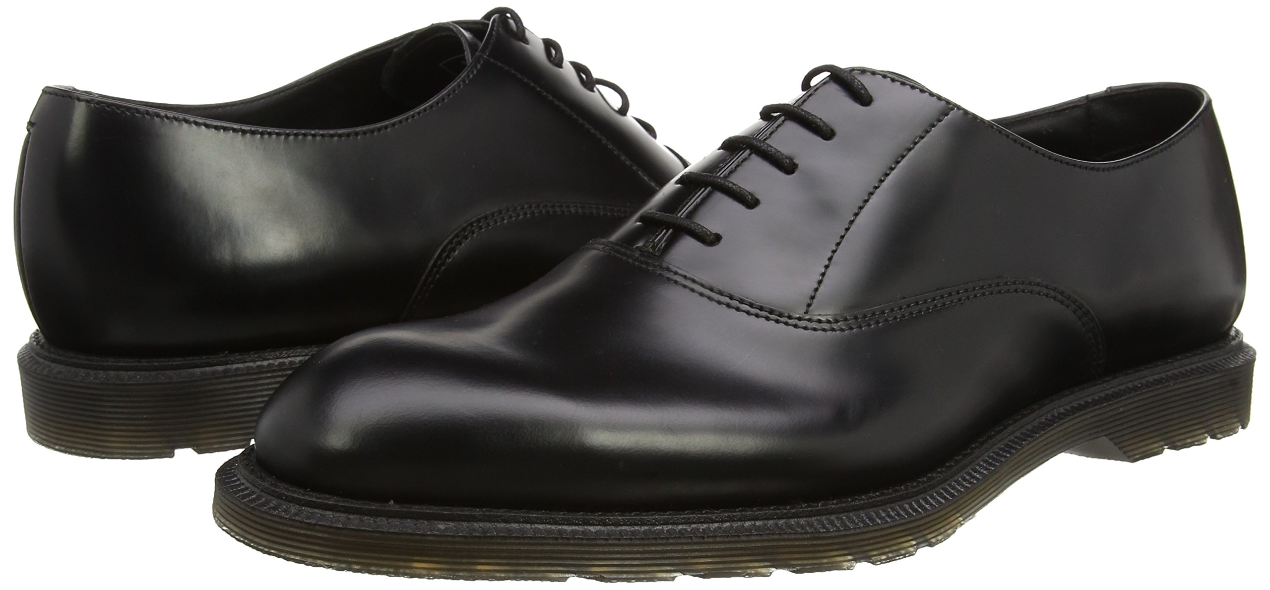 Fawkes Black Polished Smooth Oxfords