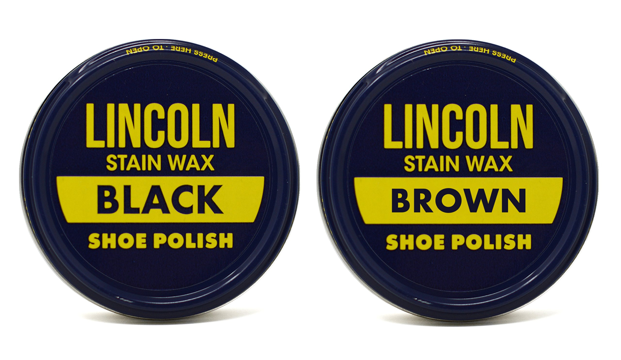 Lincoln Stain Wax Shoe Polish (Black/Brown)