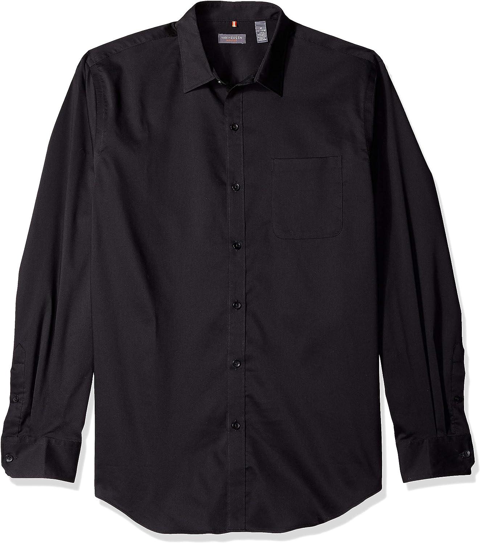 Van Heusen Mens Open Check Button Up Dress Shirt