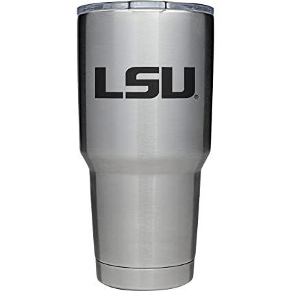41d391ad8e4 YETI Officially Licensed Collegiate Series Rambler, 30oz Tumbler with  MagSlider Lid, LSU