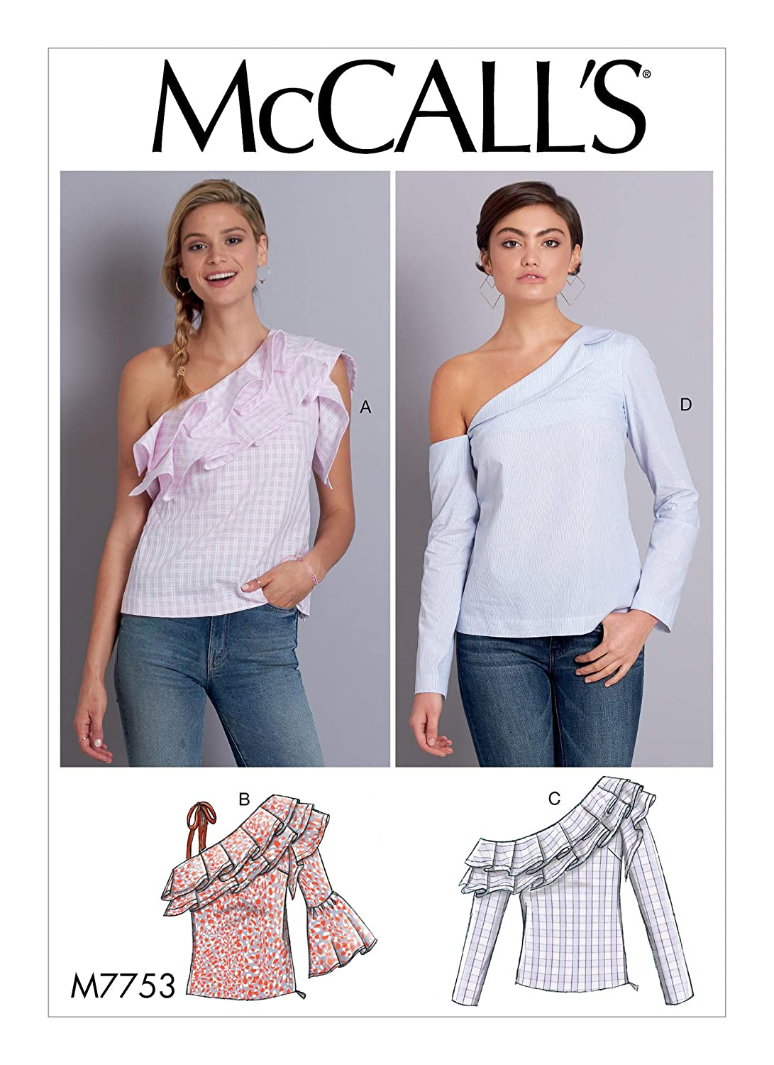 McCall/'s MP687 Sewing Pattern Misses Close Fit Tops Size A5 6 8 10 12 14
