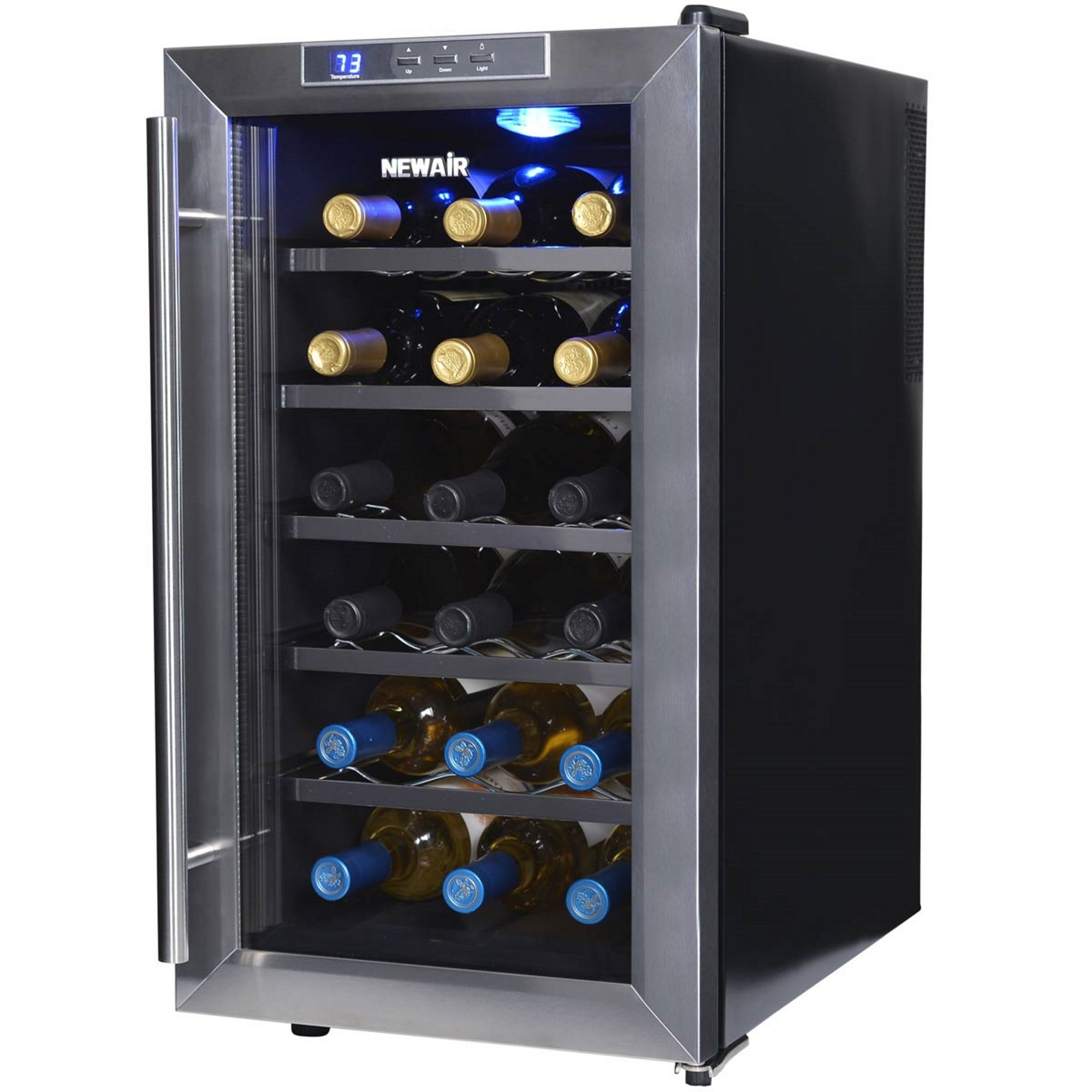 NewAir AW-181E 18 Bottle Thermoelectric Wine Cooler, Black by NewAir