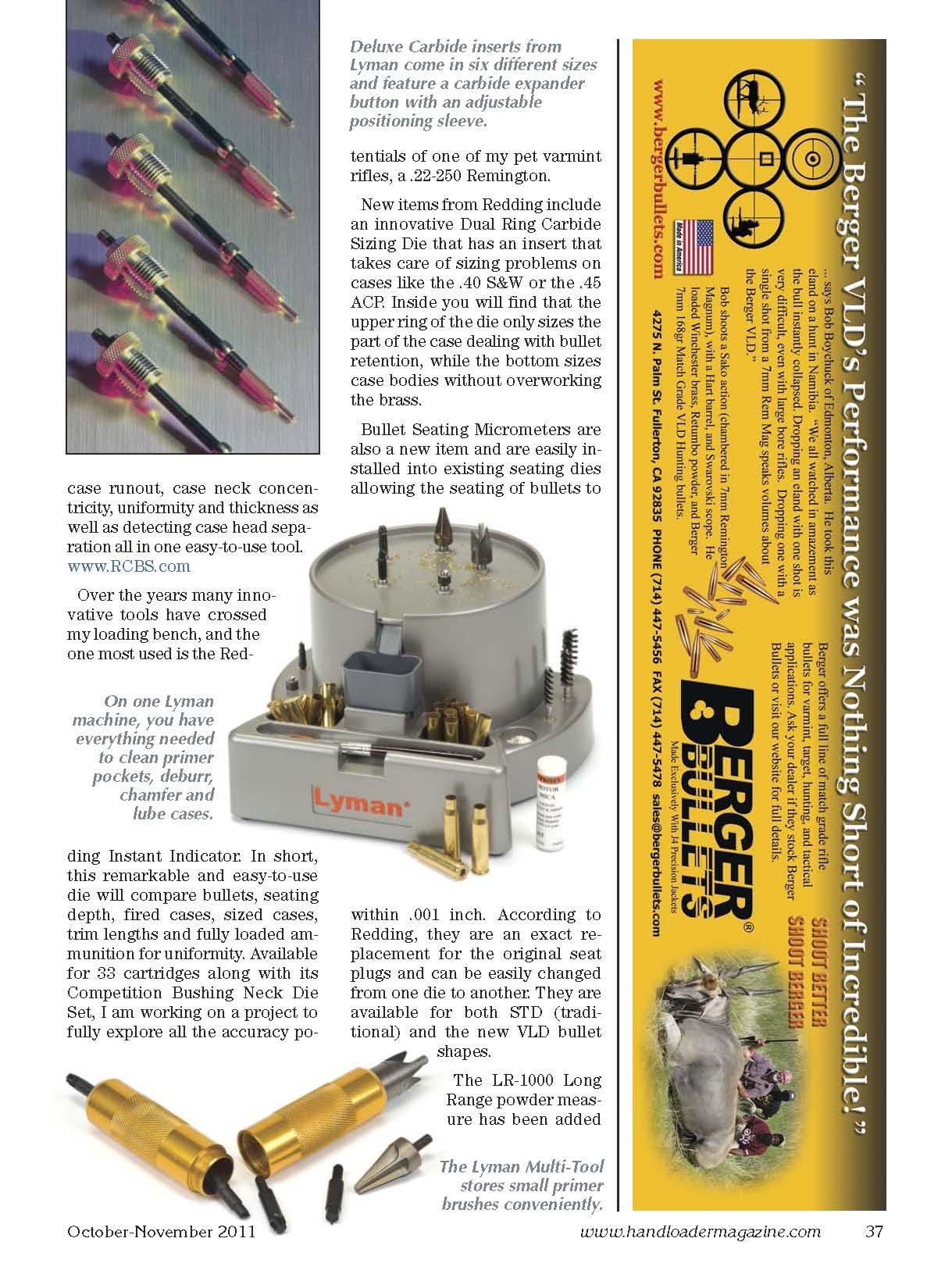 Handloader Ammunition Reloading Journal - October 2011 - Issue