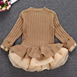CSSD Newest Girls Winter Solid Color Knitted