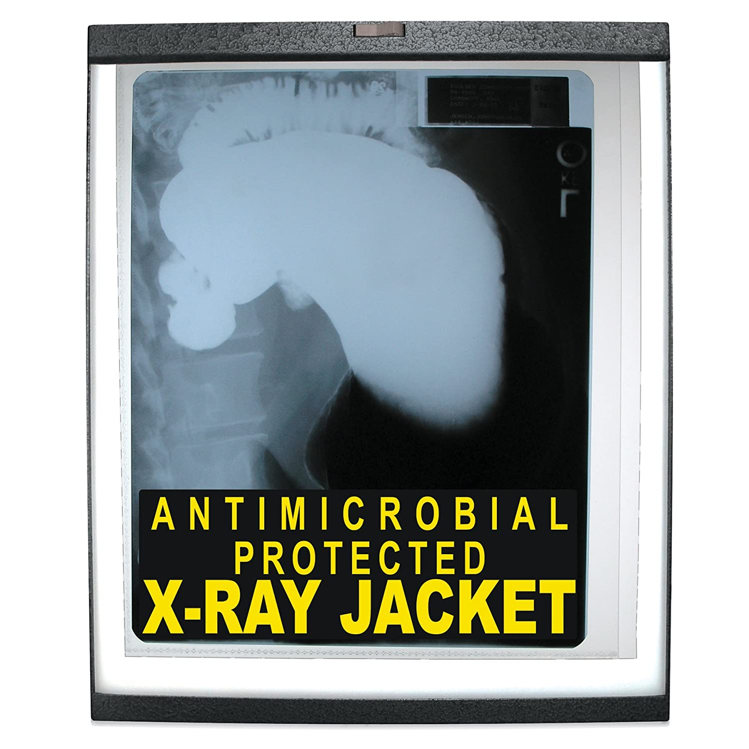 25 per Box Clear C-Line X-Ray Jackets with Antimicrobial Protection 56237 Open Long Side 12.25 x 10.5 Inches