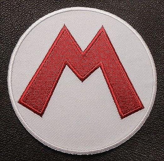 Super Mario Bros gorro de letra M Logo Parche de Velcro – Disfraz ...