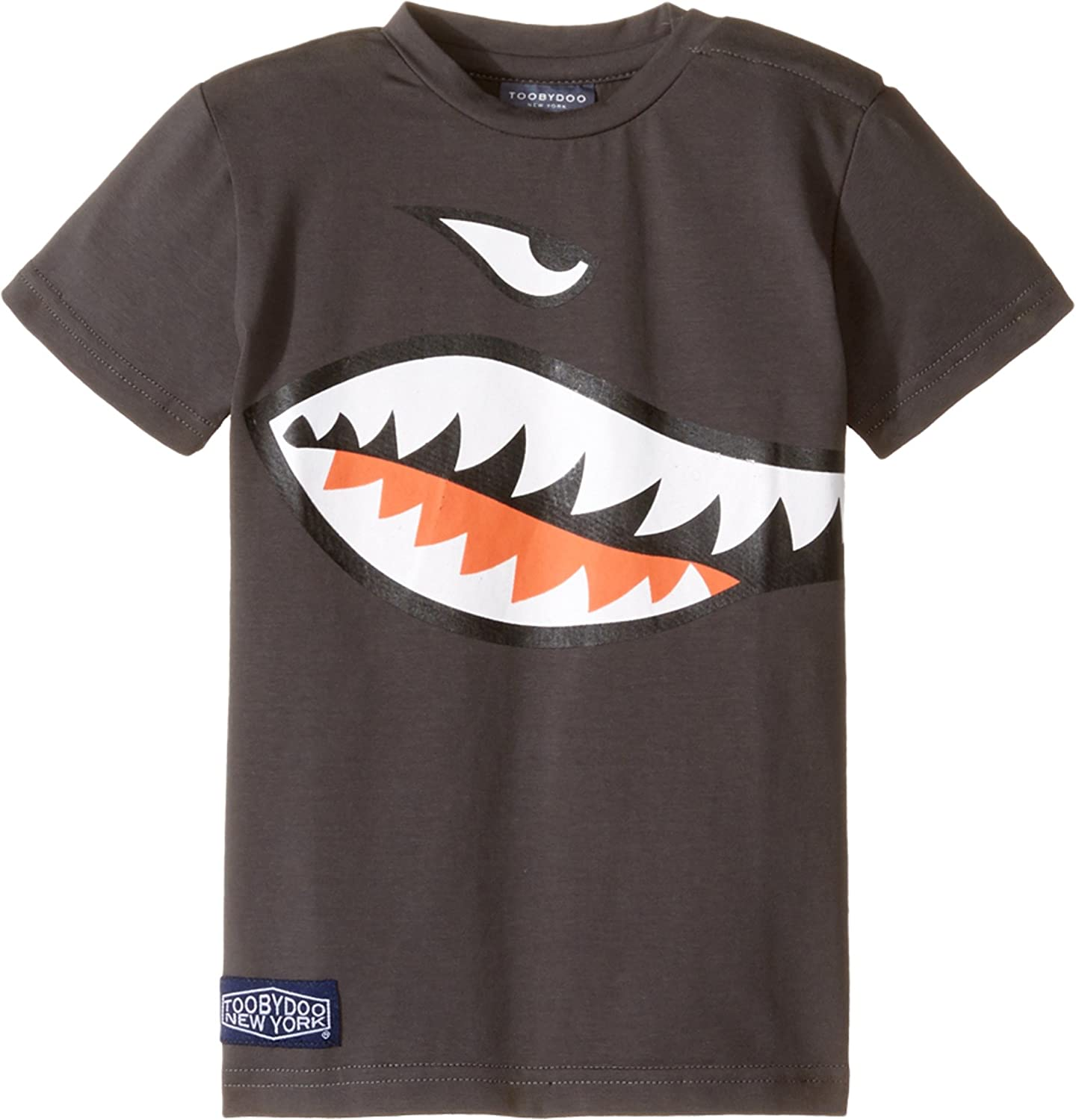 c3315bab Amazon.com: Toobydoo Baby Boy's Shark Mouth T-Shirt (Infant/Toddler/Little  Kids/Big Kids) Grey/Navy/White/Red T-Shirt: Clothing