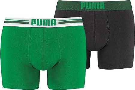 Conjunto de 2 boxers para hombres,Cintura elástica estampada con el logotipo de la marca,95% Algodón
