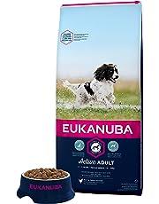 Eukanuba - Croquettes super Premium pour Chiens Adultes Moyennes Races - Alimentation 100% Complète et Equilibrée - Sans protéines végétales cachées - sans OGM conservateurs arôme artificiel - Riche en Poulet frais - Sac refermable de 15kg