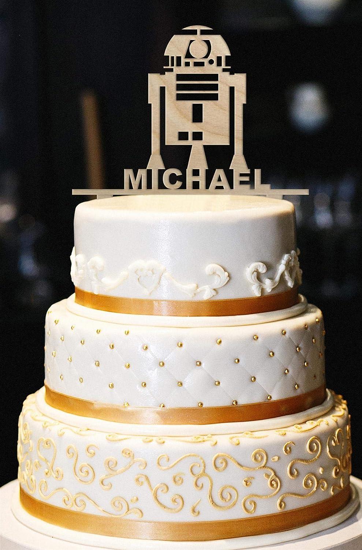 Decoración de madera para tarta de cumpleaños, diseño de robot: Amazon.es: Hogar