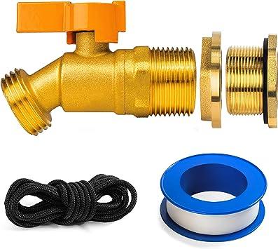 Renator P72-02330G Brass Spigot for Rain Barrel. Lead-Free Compliant, 3/4