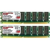 2 Go KOMPUTERBAY (2 x 1 Go) DDR PC3200 400MHz (184 PIN) CL 3.0 Desktop DIMM - Mémoire