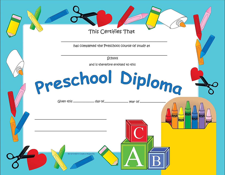 Amazon Com Preschool Diploma Office Products