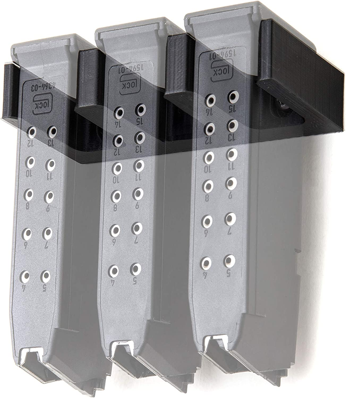26 Glock Magazine Wall Mount Holder Rack 6 Slots for 17 19