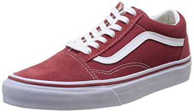 Vans Unisex Old Skool Sneaker, Rot - Rouge (Brick Red/True White ...