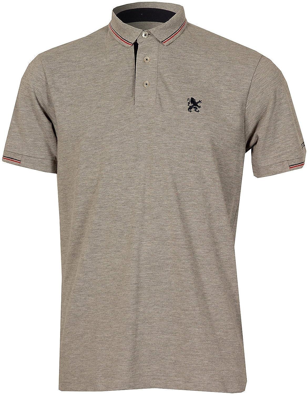 Lambretta: Camiseta Tipo Polo con Cuello pequeño para Hombre (Gris): Amazon.es: Ropa y accesorios