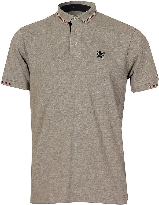 Lambretta: Camiseta Tipo Polo con Cuello pequeño para Hombre (Gris ...