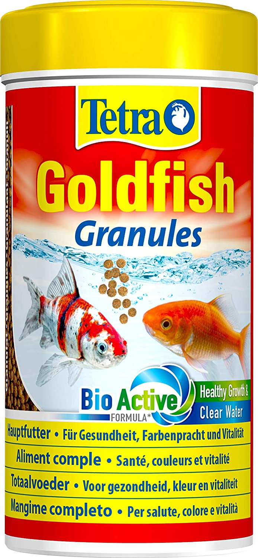 Tetra Goldfish–Alimento completo de gran calidad para peces rojos–Favorece el crecimiento, la salud y la longevidad–Resalta el color - Granulado–250ml