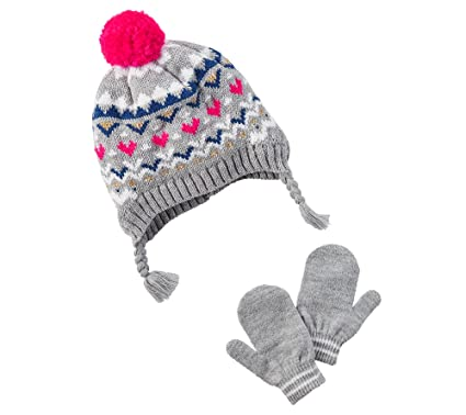 30fc1b6b833 Carter s Girls  12 Months-4T Fairisle Hat and Mittens set 12 24 Months