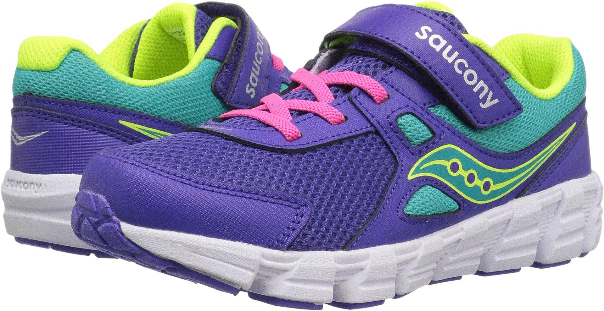 Saucony Girls' Vortex a/C Sneaker, Purple, 3 Wide US Little Kid