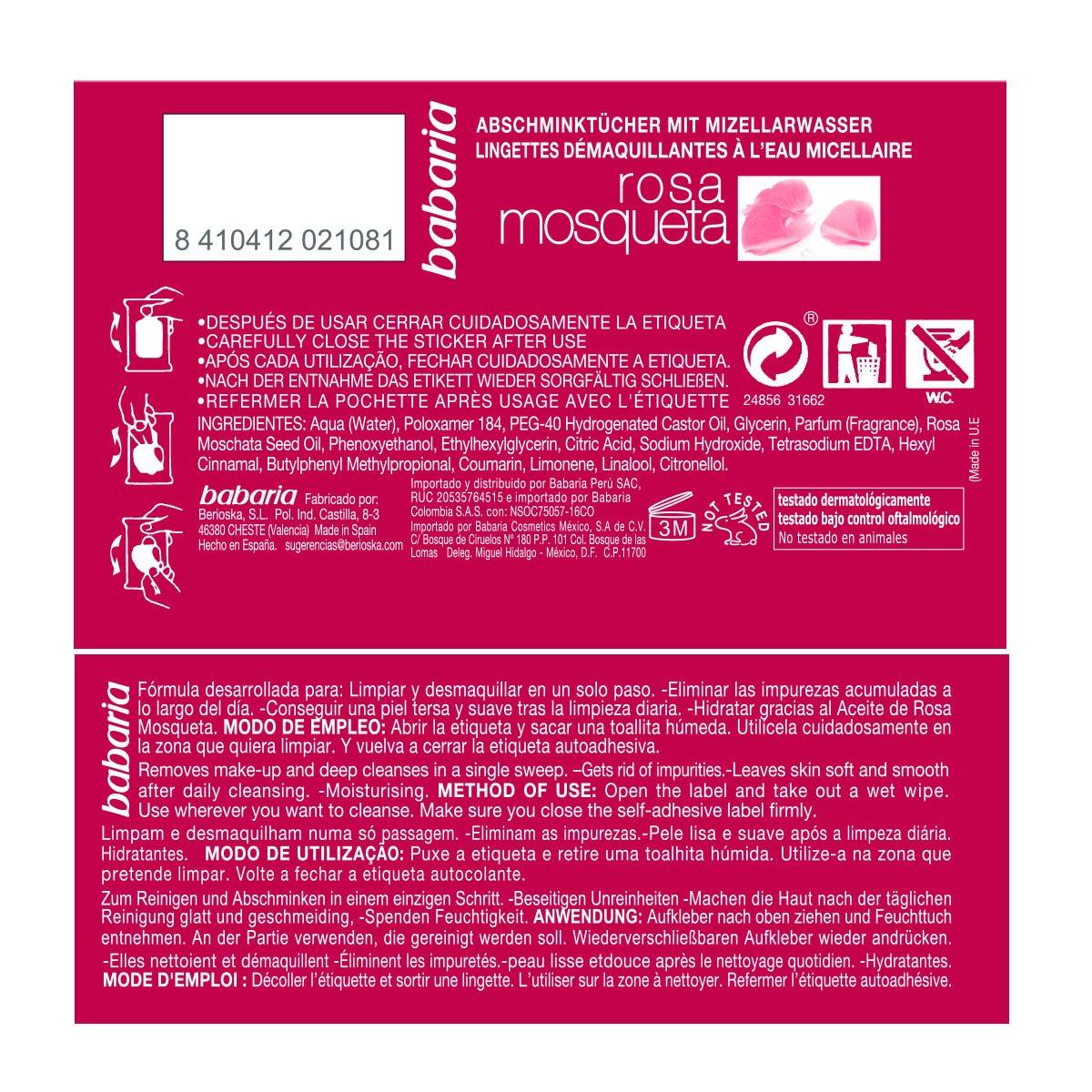 Amazon.com: Barbaria Vital Skin Wipes Pack pads Micellar Water 20Unidades: Beauty