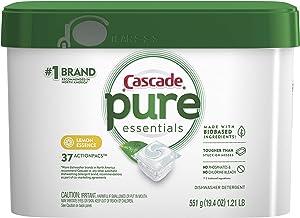 Cascade Free & Clear Dishwasher Detergent ActionPacs, Lemon Essence, 37 Count