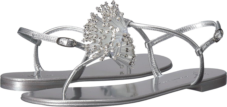1f15d2b31d989 Amazon.com: GIUSEPPE ZANOTTI Women's I800018 Met Silver 37.5 M EU: Shoes