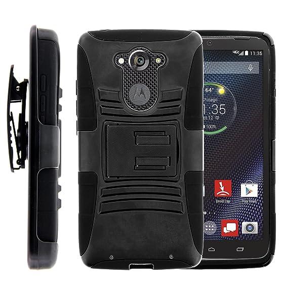 MINITURTLE Case Compatible w/ Motorola DROID Turbo Case, Motorola DROID Turbo Holster, Two