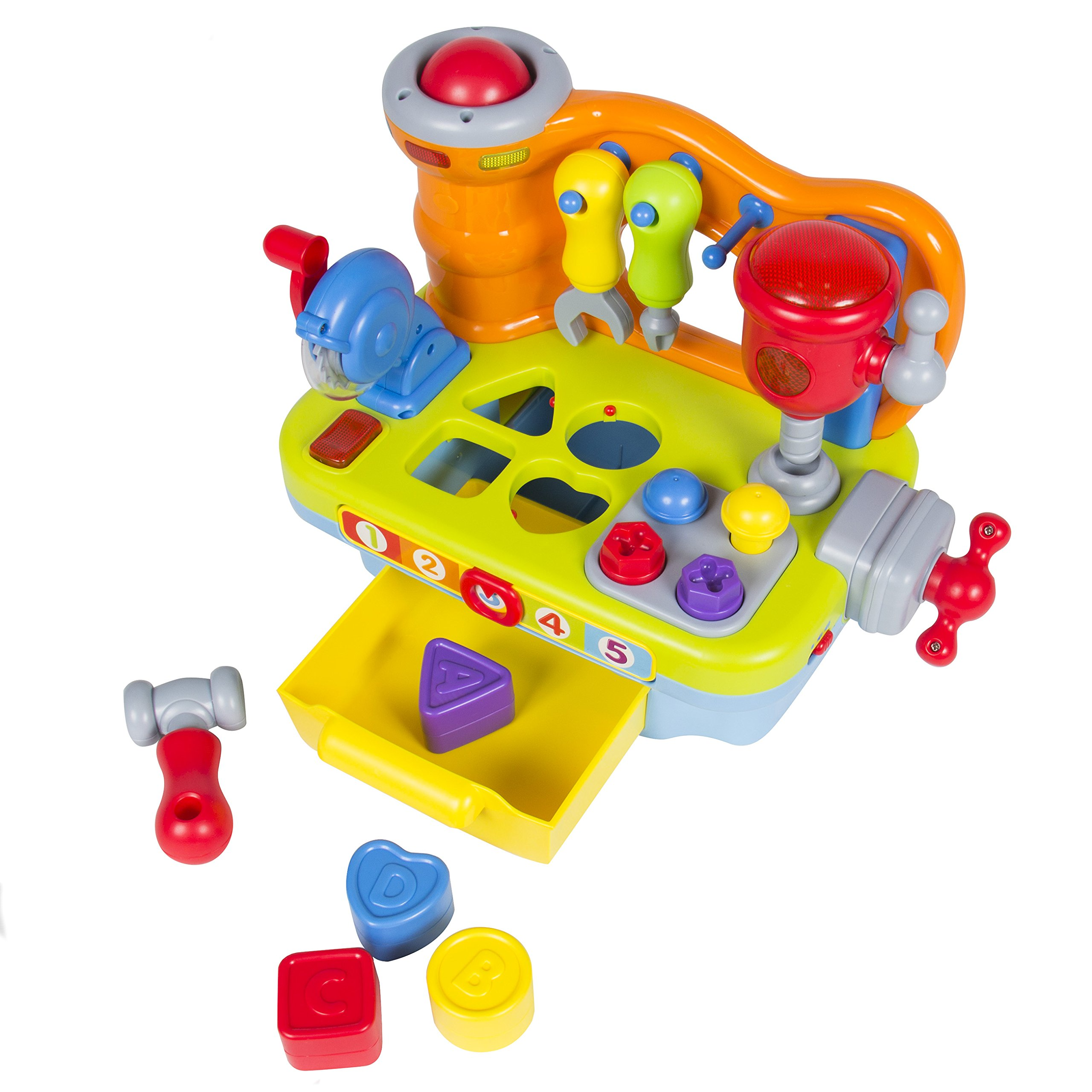 Best Choice Products Musical Learning Pretend Play Tool Workbench Toy, Fun Sound Effects & Lights by Best Choice Products (Image #3)