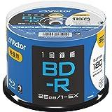 ビクター(Victor) 1回録画用 BD-R VBR130RP50SJ2 (片面1層/1-6倍速/50枚)