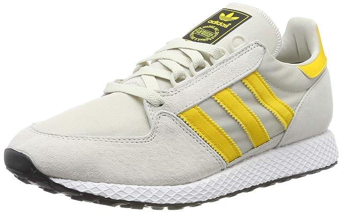 adidas Forest Grove Schuhe Herren weiß mit gelben Streifen (bold gold)