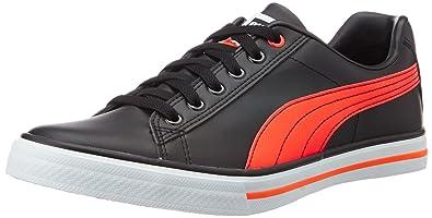 Puma Unisex Salz III Idp Puma Black and Red Blast Sneakers - 5 UK/India