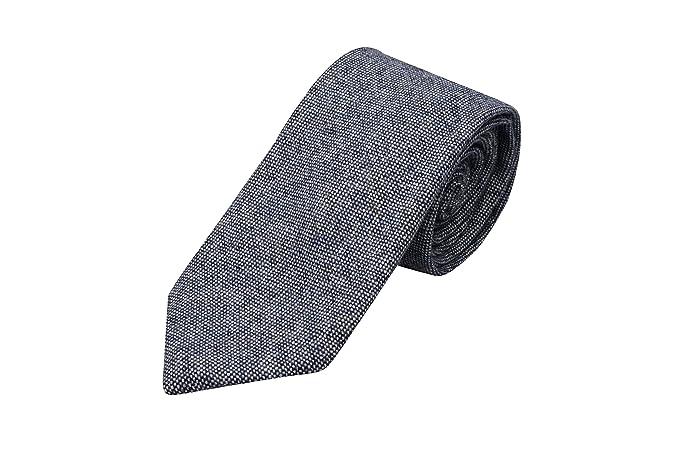 Handkerchief - Semi-solid, grey mix with grey edging Notch