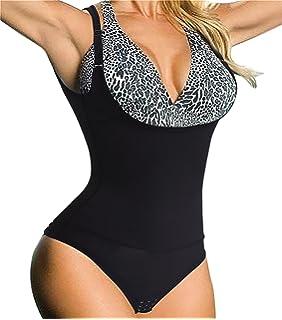 533f1cc3a6 Eleady Womens Full Body Shaper Waist Trainer Underbust Corset Cincher Open  Bust Shapewear Tummy Control Bodysuit