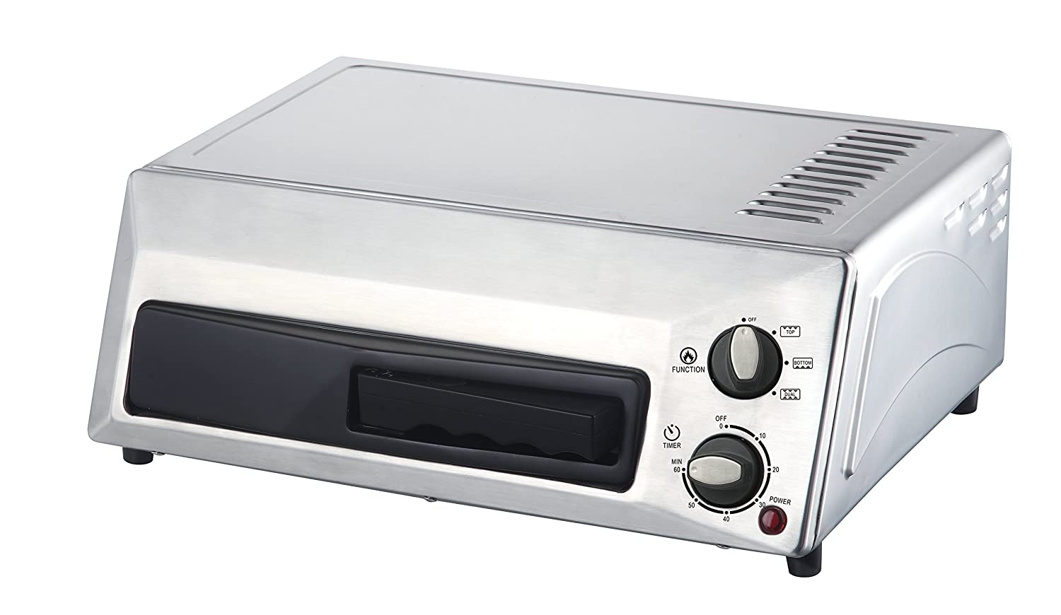 Magic Chef Countertop Pizza Oven HQPZO13ST Stainless Steel, 12 inches