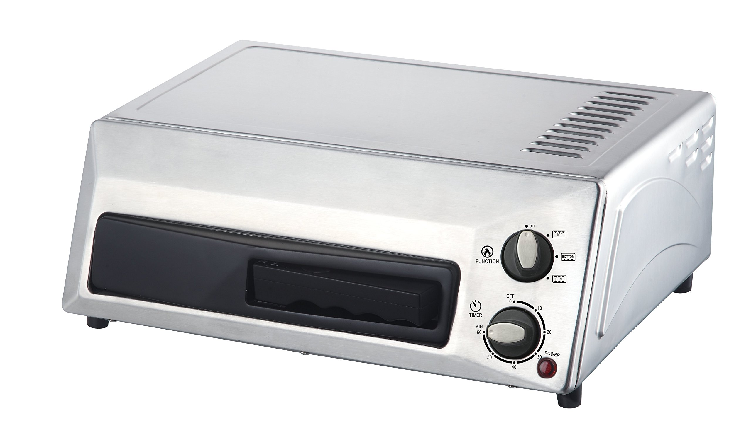 Magic Chef Countertop Stainless Steel Pizza Oven HQPZO13ST, 12 inches by Magic Chef