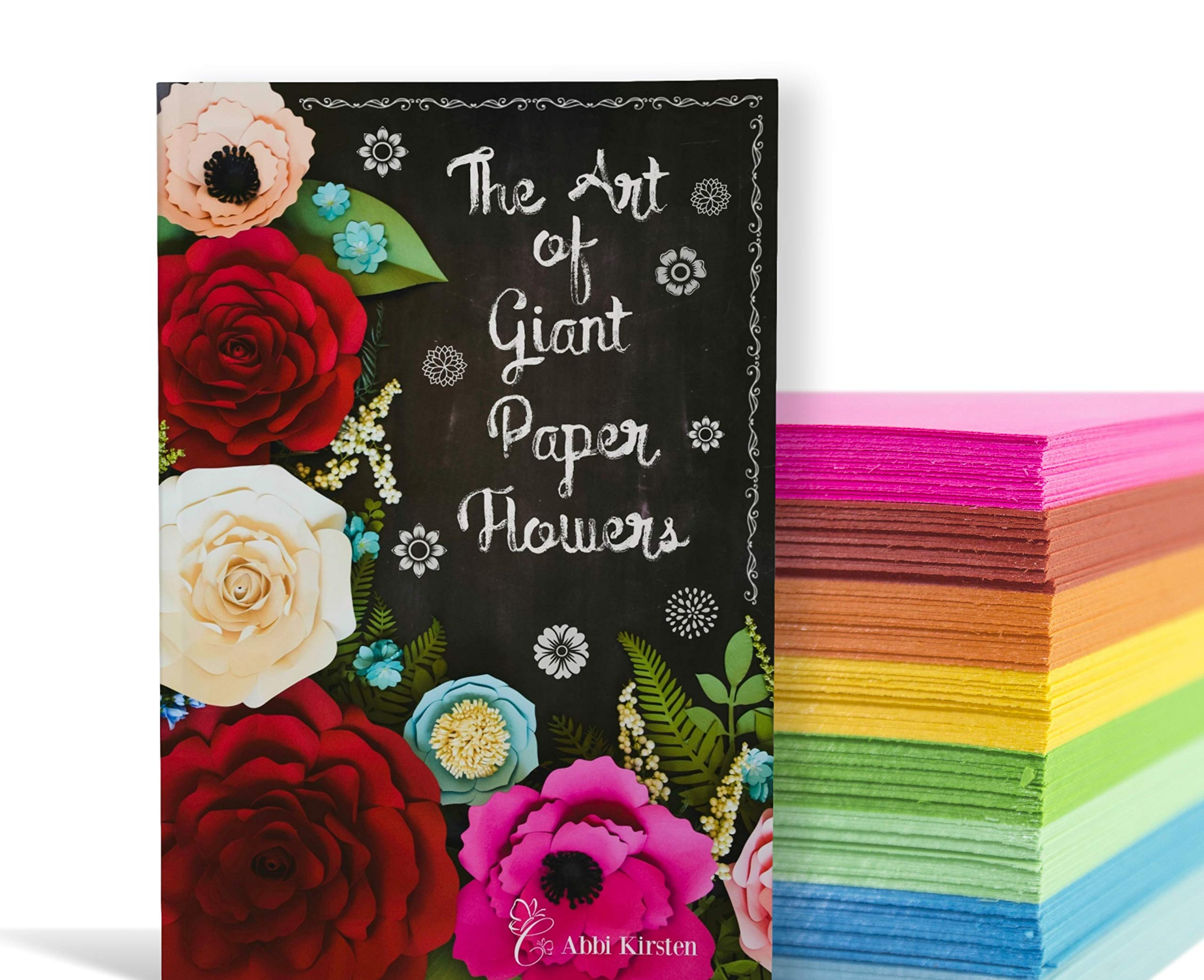 The Art Of Giant Paper Flowers Hardback Book Template Workbook