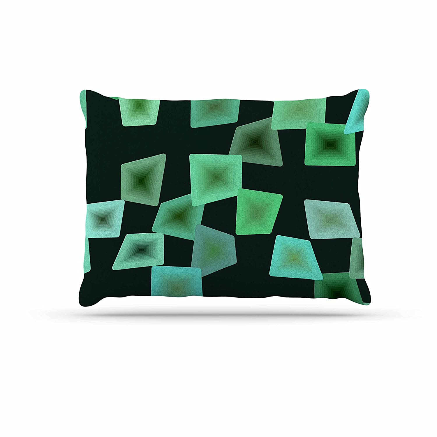 KESS InHouse No Seaglass on The Shore Green Digital Dog Bed, 30  x 40