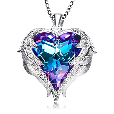 ca3b5af6b980d NEWNOVE Mothers Day Necklace Love Heart Pendant Necklaces for Women Made  with Swarovski Crystals