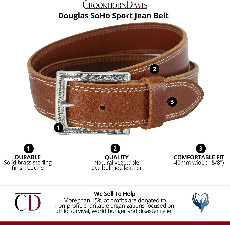 CrookhornDavis Mens Douglas SoHo Casual Jean Belt