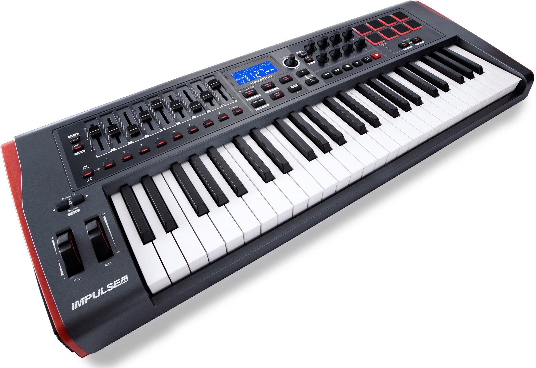 Novation Impulse 49 Keyboard Bundle with MIDI Cables and Austin Bazaar Polishing Cloth by Novation (Image #3)