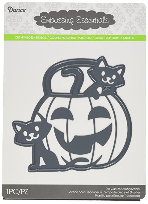 Darice 2014-83 Die Cut Pumpkin with Two Cats Paper Craft Supply ...