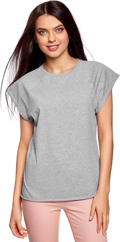 oodji Ultra Mujer Camiseta de Algodón (Pack de 2): Amazon.es: Ropa ...
