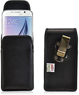 product image for Turtleback Holster Compatible with Galaxy S6 S6 Edge, Vertical Belt Case, Rotating Belt Clip, Black Leather Pouch, Heavy Duty Made in USA